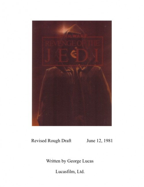 Revenge of the Jedi Revised Rough Draft