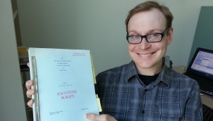 Kristian Brown, a librarian, came across what appears to be an original shooting script for Star Wars when he was digitizing the university's science fiction collection of zines, pulp magazines and novels. (Elke Semerad/CBC)