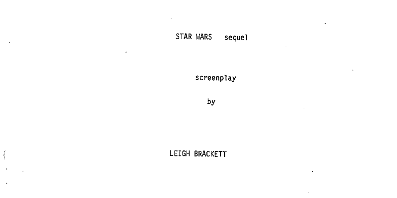 Star Wars Sequel by Leigh Brackett